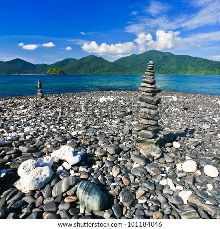 Beautiful pebble on island, Lipe, Andaman sea, Thailand