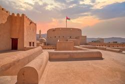 Beautiful Photo of Nizwa fort, its a most popular tourist destinations in Oman.