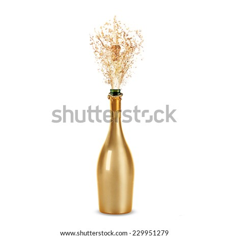 Beautiful picture of a bottle of champagne #229951279