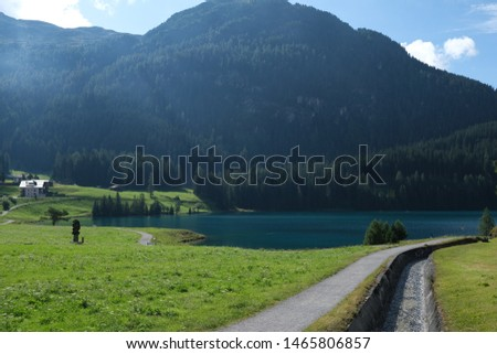 Beautiful Pictures of the Alp mountains with an alp lake #1465806857