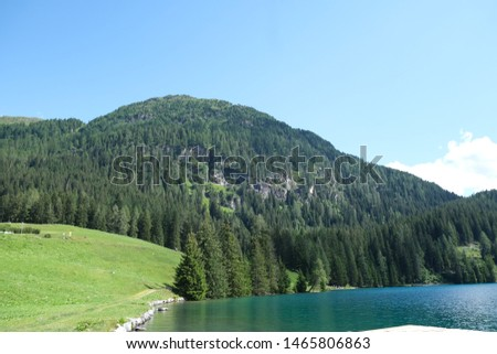 Beautiful Pictures of the Alp mountains with an alp lake #1465806863
