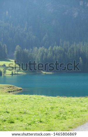 Beautiful Pictures of the Alp mountains with an alp lake #1465806869