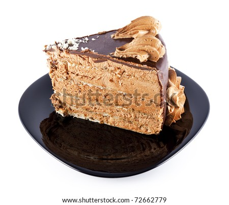 Beautiful Cake Piece Images : Beautiful Piece, Chocolate, Cream Cakes, The Black Plate ...