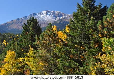 Beautiful Pikes Peak in Autumn 101