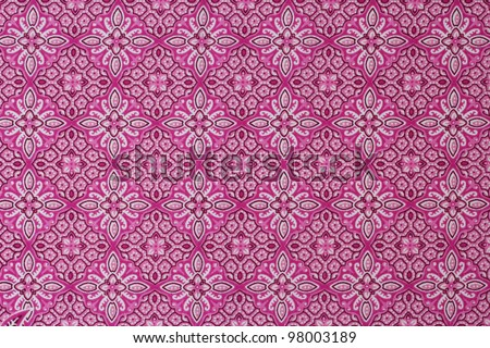 Beautiful pink batik patterns