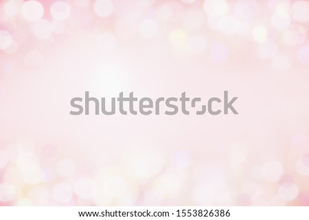 Photo of Beautiful pink bokeh background perfect for Valentines Day or Wedding Invitations. Free space for text.