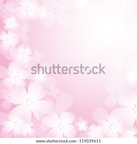 Beautiful pink flower background. Raster version of the loaded vector.