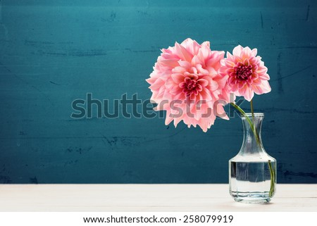 Beautiful pink flowers in vase #258079919