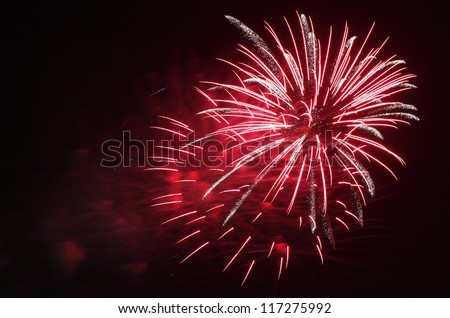 Beautiful pink sparks fireworks