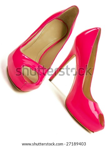 Beautiful pink women shoes