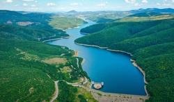 Beautiful places, hills, mountains, meadows and lakes in Kosovo and Albania