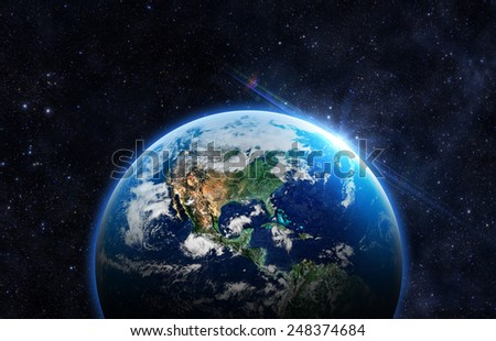 Beautiful Planet Earth -  Elements of this Image Furnished By NASA