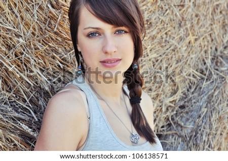 Beautiful girl in polish