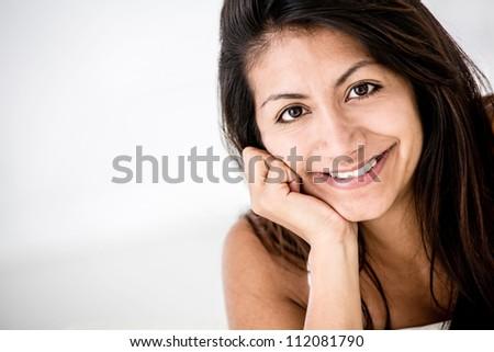 Beautiful portrait of a Latin woman smiling