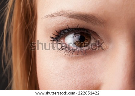 Beautiful portrait of a pretty girl close up eye
