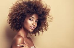 Beautiful portrait of african american woman .