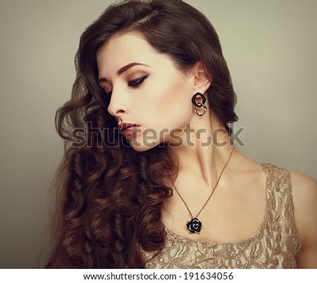 beautiful profile of female...