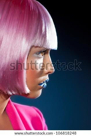 Beautiful profile of the girl