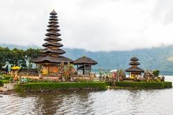 Beautiful Pura Ulun Danu Bratan temple , Bali, Indonesia
