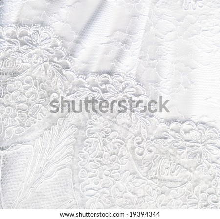 Beautiful pure white textile wedding background - stock photo