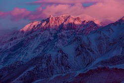 Beautiful purple mountain sunrise landscape texture
