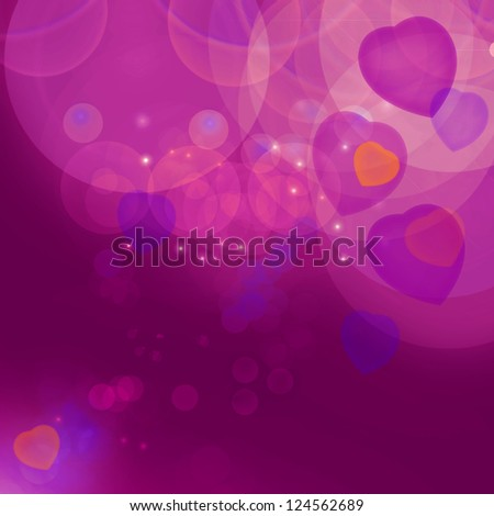 Beautiful Purple Valentine's Bokeh Background