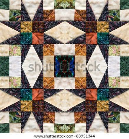 beautiful quilt design with star motive