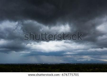 beautiful Rain clouds and gloomy sky #676775701