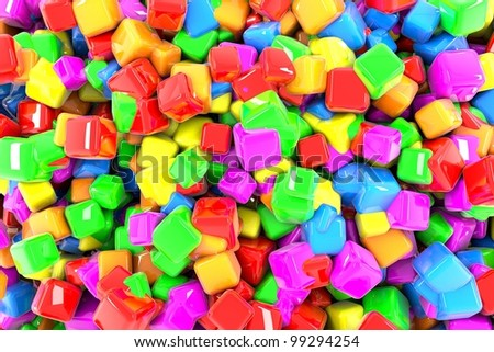 Beautiful rainbow colorful cubes background