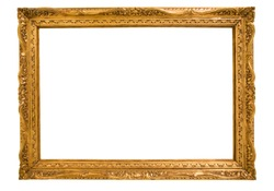beautiful rectangular frame for a mirror on isolated background