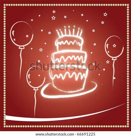 Beautiful red birthday and wedding cake background