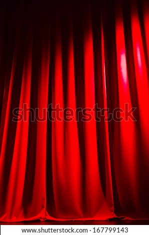 beautiful red curtain at a movie theater - nice background