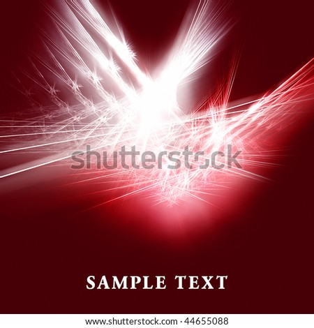 Beautiful red fractal background