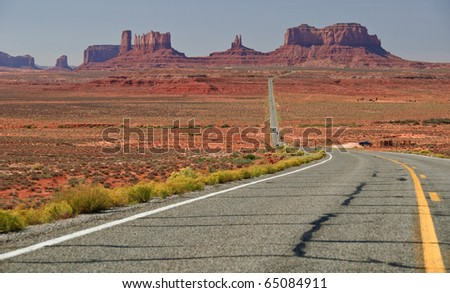 beautiful red landscape from monument valley, utah