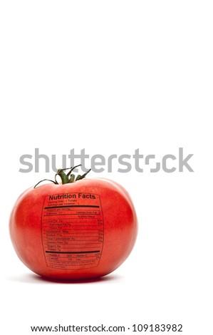 Beautiful red ripe tomato ready to be eaten - stock photo