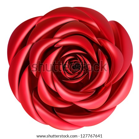 beautiful red rose as decoration for celebration of Valentine's Day