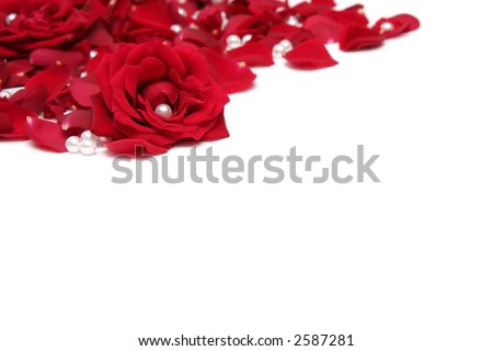 Manoir Du Hilguy. White background with red