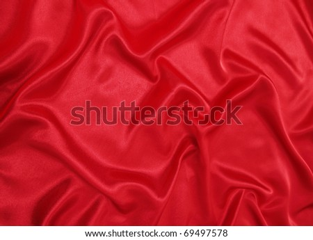 Beautiful red silk cloth is the romantic texture