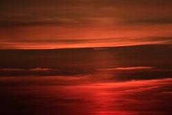 Beautiful Red Sunrise in Burgundy