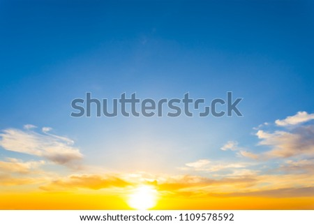 beautiful red sunset natural background #1109578592