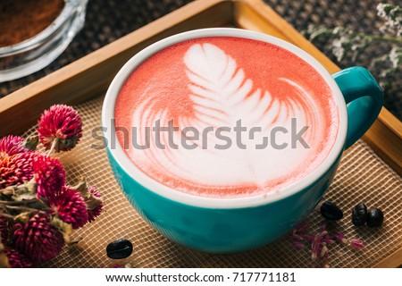 Beautiful Red Velvet Caffe Latte