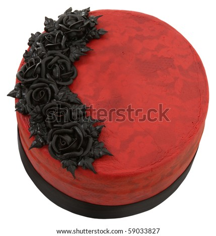 Beautiful Red and Black Wedding Cake Pictures Gallery