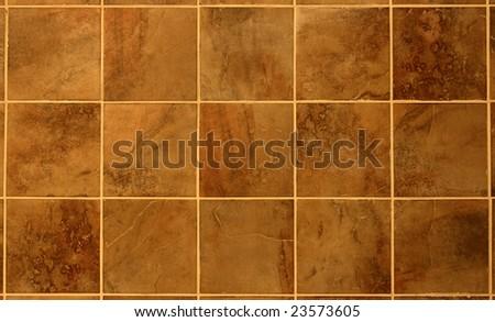Tilingbathroom Wall on Beautiful Reddish Brown Tile From A Bathroom Wall  Stock Photo