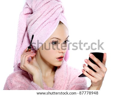 Lifestyle - Pagina 3 Stock-photo-beautiful-redheaded-girl-in-pink-clothes-isolated-on-a-white-background-cosmetology-spa-87778948