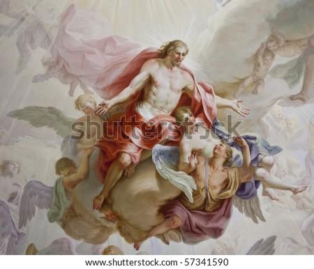 beautiful religious fresco