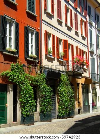 beautiful residential homes in Brera neighborhood of Milan Italy Europe