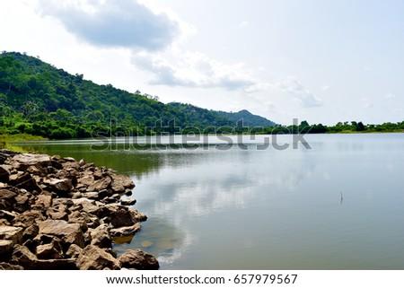 beautiful river landscape edo nigeria #657979567
