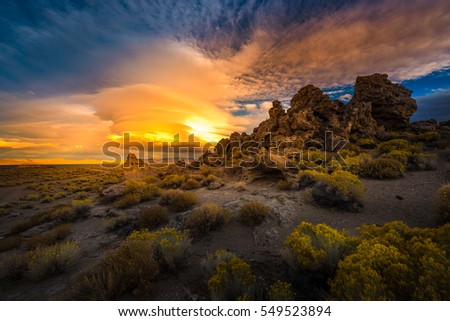 Shutterstock Beautiful Rock Formations at Sunset Pyramid Lake Nevada