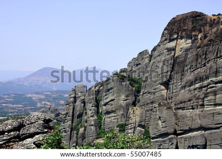 Beautiful rocks Meteora in Greece
