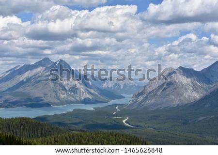 Beautiful Rocky Mountain lake in the Canadian Rockies #1465626848